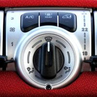 heating and air conditioning dials in a car