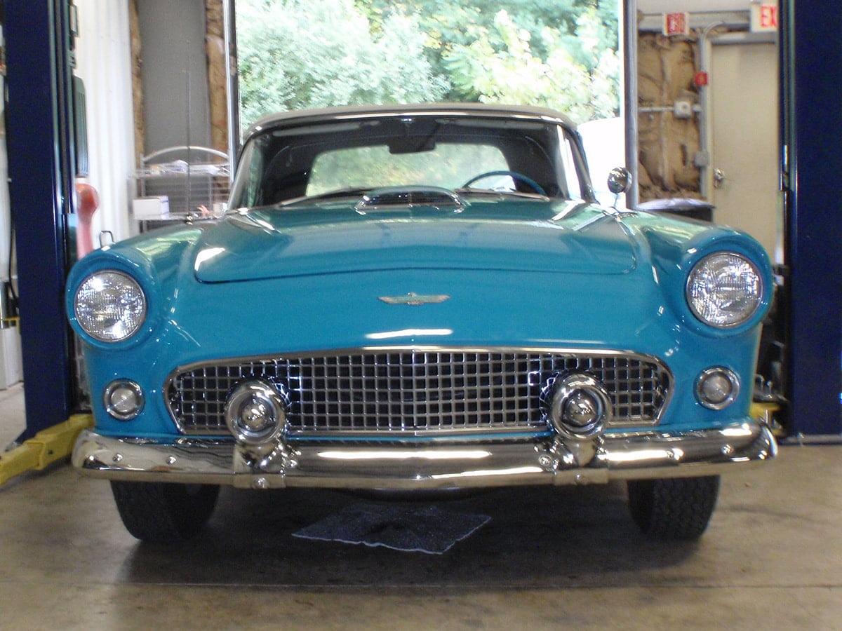 classic car restoration blue